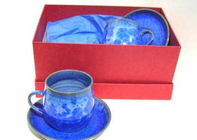 blue espresso set