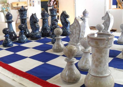 chess set 4' 6 square