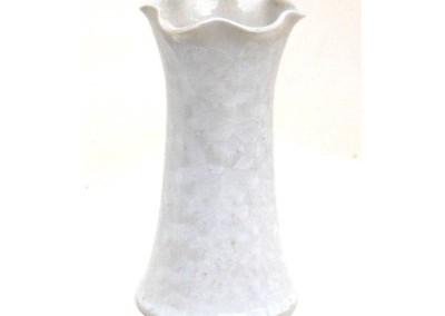 white wavy vase